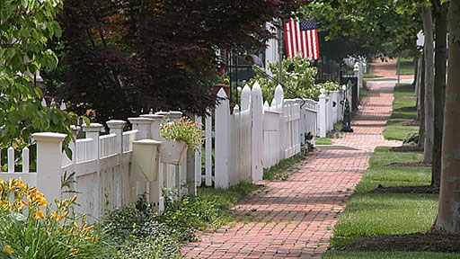Traditional Neighborhood Developments such as the Kentlands in Gaithersburg, MD encourage walking and a  sense of place
